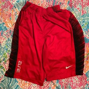 Red Nike Elite Dri-fit shorts.  Size Men's XL